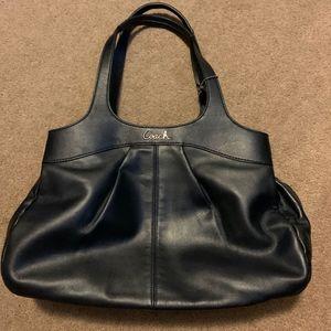 Coach Lexi Leather Graphite Handbag